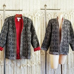 🥀Brocade Jacquard Silky Lined Smoking Jacket🥀